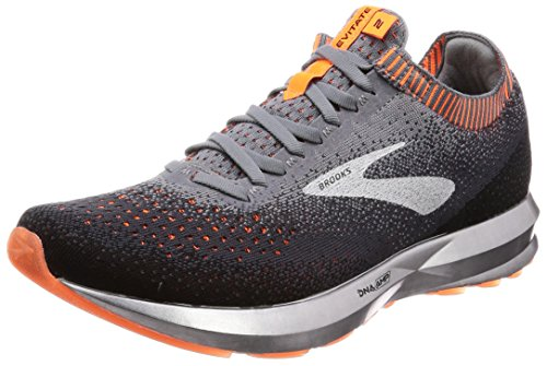 Brooks Levitate 2, Zapatillas de Running para Hombre, (Grey/Black/Orange 026), 45.5 EU
