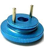 L4267 1/10 oder 1/8 Maßstab RC Nitro Motor 2 Schuh Stift Kupplung Schwungscheibe Legierung Blau