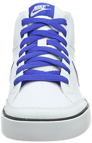 Nike Capri 3 Mid Ltr (Gs), basket garçon Blanc - Weiß (White/Game Royal-Black)