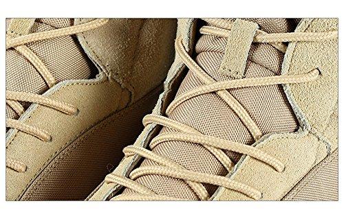 emansmoer Herren High-top Lace-up Armee Tactical Combat Stiefel Schuhe Wildleder Wasserdicht Outdoor Wandern Trekking Stiefel Khaki
