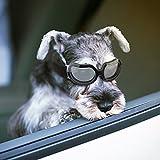 Namsan Hundesonnenbrille UV-Schutz Wasserdicht Winddicht für Doggy Puppy Katzen mit Verstellbaren Trägern und Weichem Rahmen