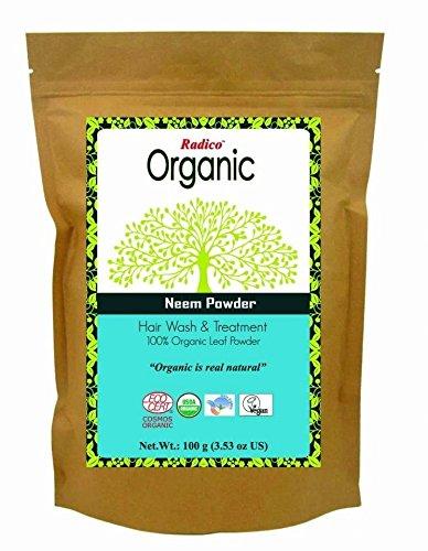 radico - polvere di neem bio 100% naturale - effetto antibatterico per capelli - per il cuoio capelluto irritato - consigliata contro i pidocchi - riduce la forfora e pulisce i capelli - 100 gr