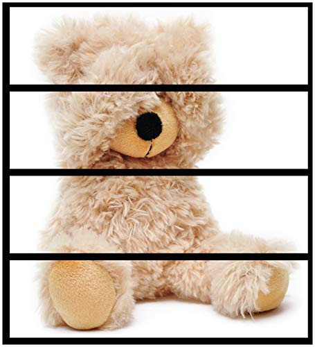 Wallario Möbelfolie/Aufkleber, geeignet für Ikea Malm Kommode - Süßer Teddybär mit 4 Schubfächern
