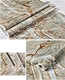 Glow4u Kunstmarmor-Kontaktpapier für Arbeitsplatte, Selbstklebende Vinylfolie, abziehen und aufkleben, Granit 60cm x 3m G-007