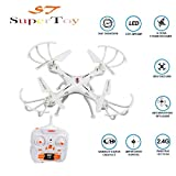 Supertoy(Tm) Drone Professional Quadcopter 360° Drone With 2.4G Rc Helicopter Toy No Camera