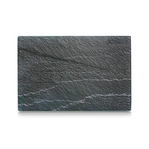 """Zeller 26256 Glasschneideplatte """"Schiefer"""", anthrazit"""