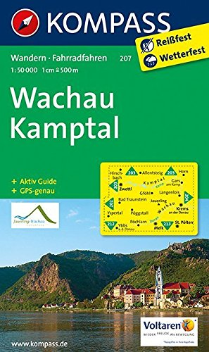 Wachau - Kamptal: Wanderkarte mit Aktiv Guide und Radrouten. GPS-genau. 1:50000 (KOMPASS-Wanderkarten, Band 207)