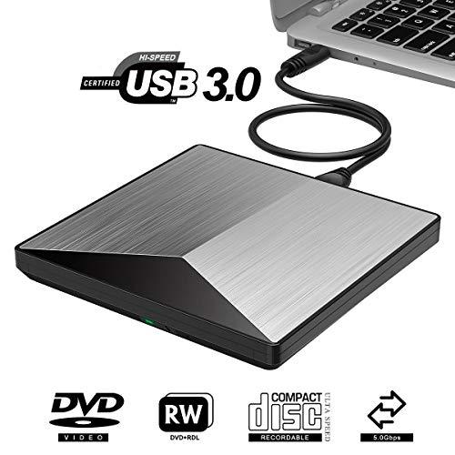 Kempp Externes DVD Laufwerk USB 3.0 Cd Brenner, 100{1272b0451c2f20b94ad9e02bd7e9d6766e0f2dc3d8a316064527ef1bdcddee41} Neu Chip Superdrive für Laptop, Desktop, Mac, MacBook, Ios, Windows 10/8/7/XP andLinux