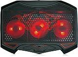 SKGAMES Notebook Laptop Kühler Gamer Kühlpad Ständer Kühlmatte Cooler Cooling Pad Unterlage für 10 - 17 Zoll, 3 x LED Lüfter, Schwarz