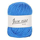 Cooljun Essential Wool Balls - Laine en Bébé Lait Coton - Assorted Colors - Ideal for Any Knitting and Crochet Project 50g (K)