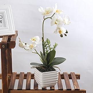 LianLe Artificial Orquídea Mariposa Flor Planta de Imitación Decoración del Hogar Boda Fiesta