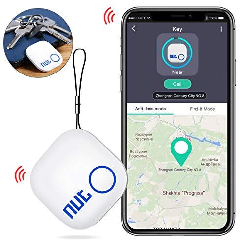 Schlüsselfinder, BEBONCOOL Keyfinder mit Bluetooth App Key Finder Anti-verlorene Schlüsselanhänger Schlüssel Locator, Haustier Tracker, Wallet Tracker Weiß