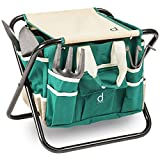 Andrew James Gardeners Tool Stool with 5 Tools and Storage Bag