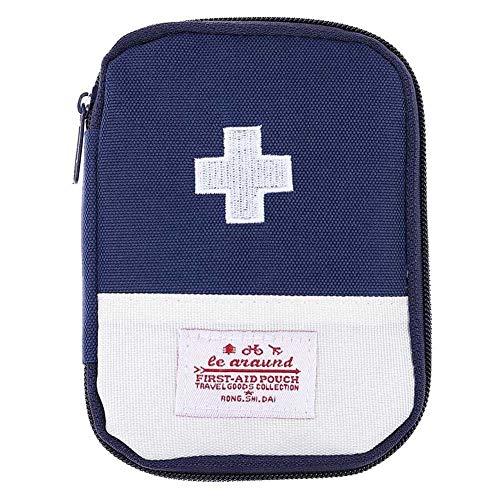 Kulturbeutel, Hard Case Und Leichtgewicht CPR-Gesichtsmaske Für Die Reise Hängende Kosmetiktaschen Reisemedizin-Aufbewahrungstasche Rettungsdecke Dark bliue,small -