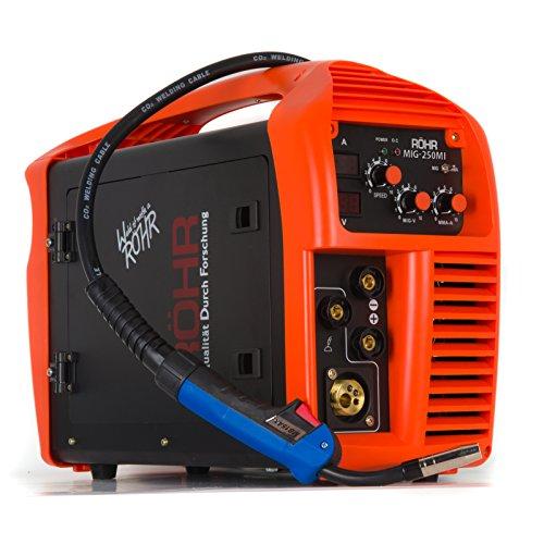 Röhr - Poste à souder MIG-250MI - 3 en 1 - MIG/onduleur MMA - avec/sans gaz - technologie IGBT - 240 V - 250 A DC