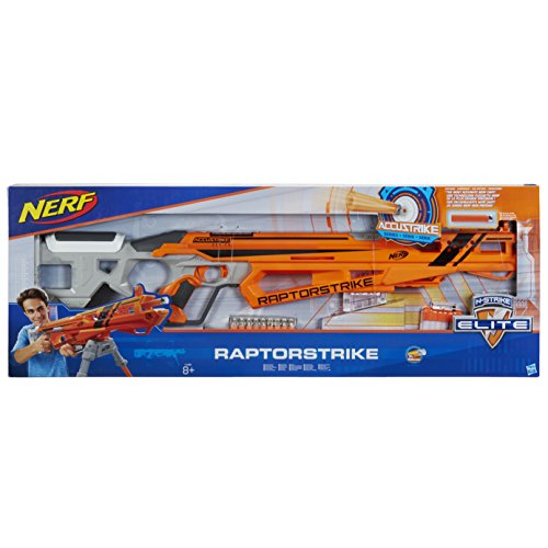 Hasbro Nerf c1895eu6–N-Strike Elite accust Rike Rap torst Rike, Giocattolo Blaster