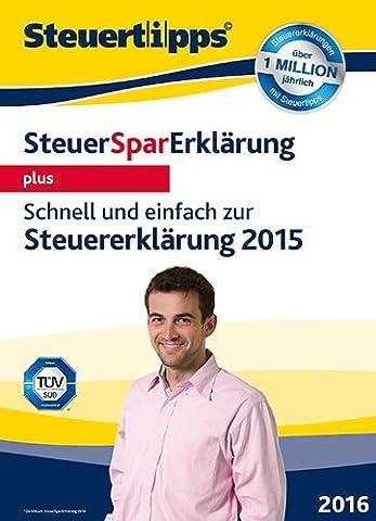 SteuerSparErklärung 2016 plus (für Steuerjahr 2015) [PC Download]