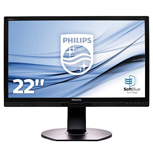 Philips 221P6EPYEB 21.5-Inch LED Backlight LCD Monitor (1000:1, 250 cd/m, 1920 x 1080, 14 ms, VGA/DVI/Display Port)