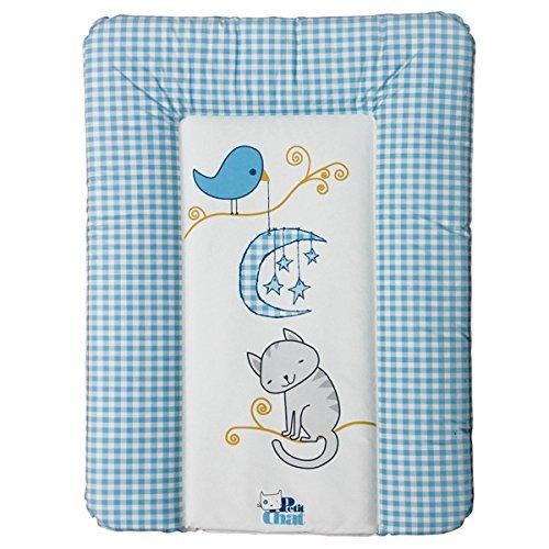 Colchón Cambiador de Bebé Blando de Petit Chat 70*5*50 cm- modelo Versalles Azul