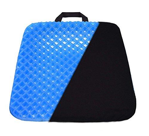 ODEER Gel Sitzkissen Pad Für Rollstuhl, Auto, Büro Stuhl, Honeycomb Stuhl Kissen,Pain Relief Sitzkissen Mit Rutschfester Abdeckung