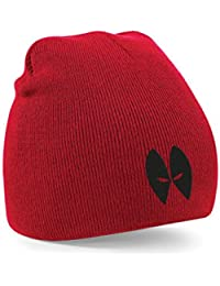 Deadpool Eyes Only Embroidered Red Beanie Movie Wade Wilson
