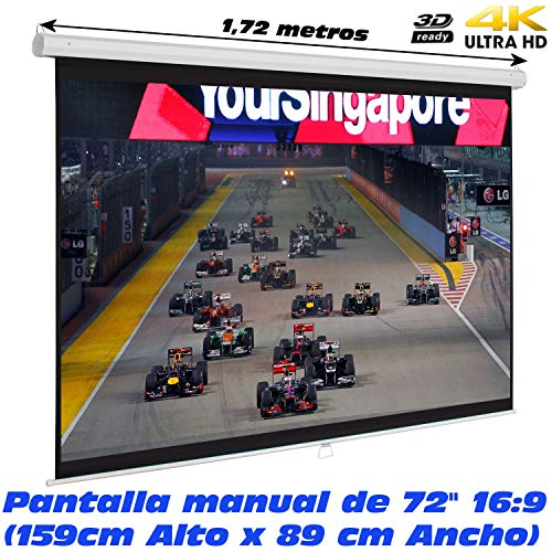 Pantalla proyeccion Manual Luxscreen 72