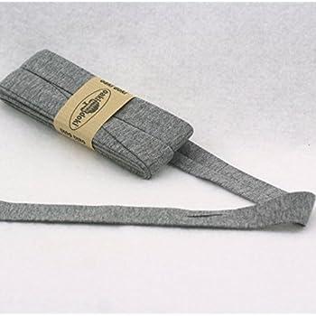 Breite: auf 2cm vorgefalzt Oaki Doaki Jersey-Einfassband 3m schwarz 100 elastisches Schr/ägband