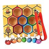 Sharplace Holz Bienen Klippkasten Stellten Montessori Pädagogisches Spielzeug für Kinder / Baby