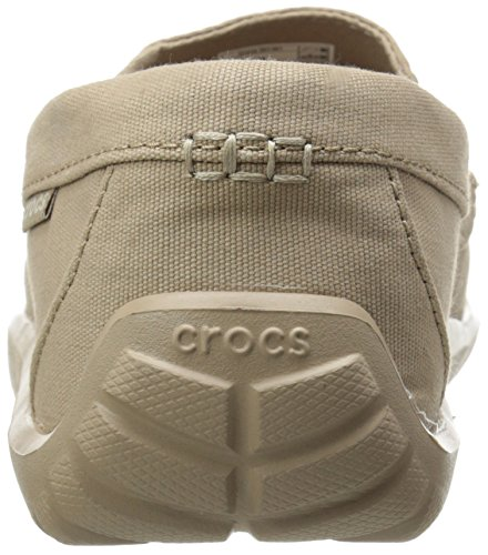 Crocs - Walu pour homme Toile Driver Chaussures à enfiler Tumbleweed/Tumbleweed