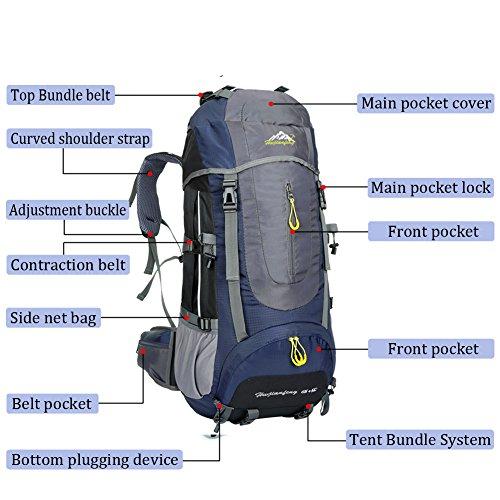 Zoom IMG-2 onyorhan 70l travel backpack trekking