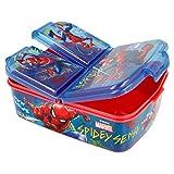 Marvel Spider-Man Kinder Premium Brotdose Lunchbox Frühstücks-Box Vesper-Dose mit 3 Fächern