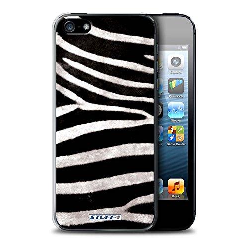 Stuff4® Hülle/Hülle für Apple iPhone 5/5S / Zebra Muster/Tierpelz Muster Kollektion -