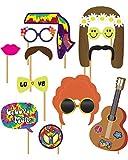 Horror-Shop Hippie Fotobox Set als DER Partygag schlechthin für Deine Hippie Motto Party