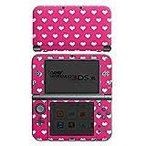Skin kompatibel mit Nintendo New 3DS XL Aufkleber Sticker Folie Polka Herz Pink White