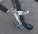 BMDHA Support De Béquille Latéral pour Moto Ajuster Les Pieds Support Solide Stabilisateur Évolutif Éviter Le Glissement D'inclinaison De La Moto