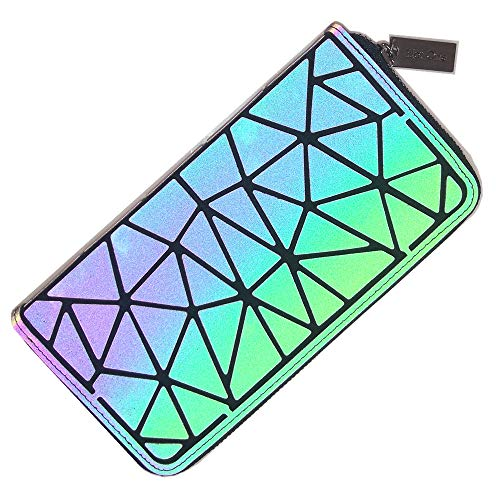 HotOne Geometric Wallet Match Holografische Geldbörse und Handtasche Farbänderungen Leuchtende Geldbörse