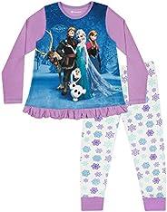 Disney Pigiama a Maniche Lunghe per Ragazze Frozen