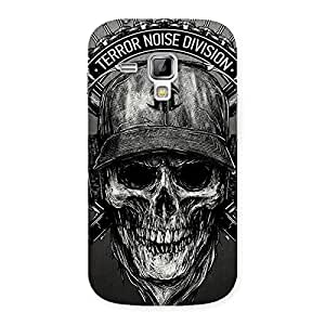 Delighted Grey Skull Terr Back Case Cover for Galaxy S Duos