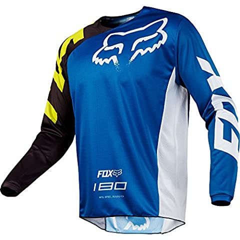 Fox 180 Race LS Youth Jersey - Royal, Large / Long Sleeved Sleeve Tee T Shirt Top Torso Bikewear Wear Gear Kit Children Child Kid Junior Boy Girl Youngster Young Age School Unisex Bicycle Cycling Cycle Biking Bike Riding Ride Racing Race MTB Mountain Off Road Street Urban Motocross MotoX Moto X MX Upper Body Clothing Clothes Apparel Attire Sport Sportive Outdoor Exercise BMX Scooter Scoot Dirt Jump Enduro Trail Extreme Downhill Freeride Cross Country DH FR XC