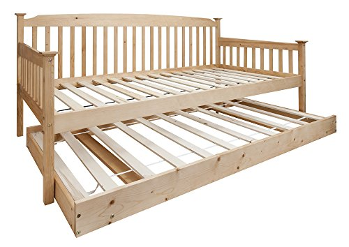 Isabella Day Bed in Natural with Pull out Trundle Single Bed Noa & Nani