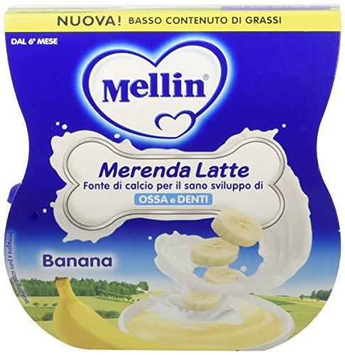 Mellin Merenda Latte e Banana 12 Vasetti da 100 gr