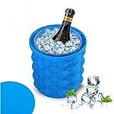 OOFAY LIGHT® Eis Genie Cub Hersteller Dual-Use Silikon Schimmel Eis Eimer Küche Werkzeuge Eis Wannen Getränk Halter Flaschen13.5*14.5Cm