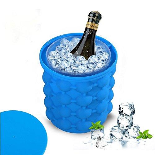 OOFAY LIGHT® Eis Genie Cub Hersteller Dual-Use Silikon Schimmel Eis Eimer Küche Werkzeuge Eis Wannen Getränk Halter Flaschen13.5*14.5Cm (Äußere Wanne)