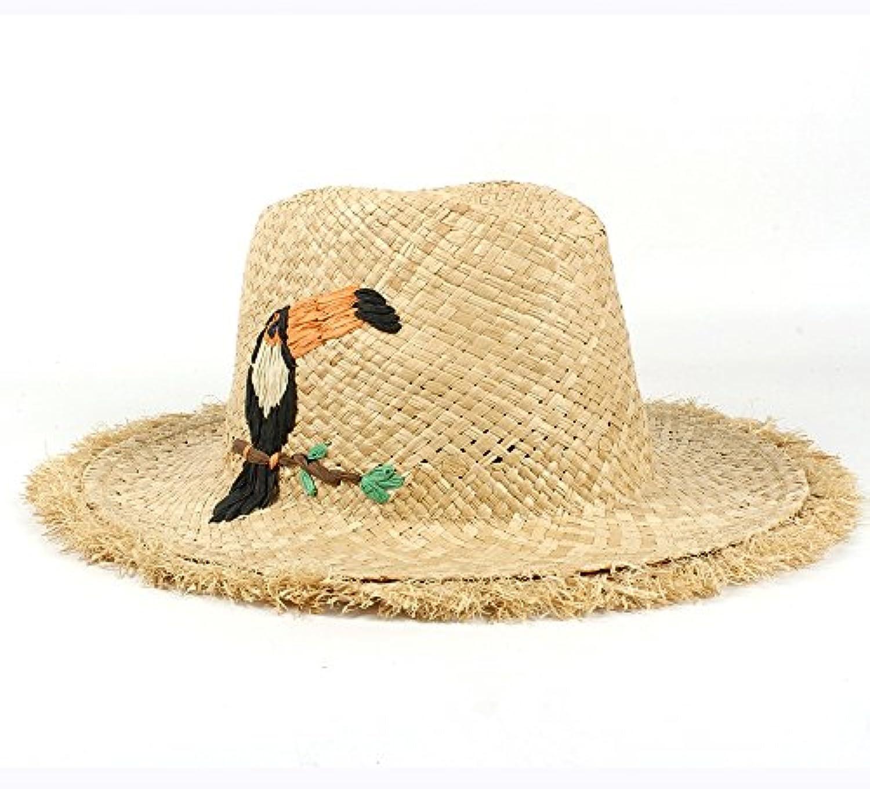 HYF Cappello Panama in Paglia di Rafia da con Donna con da Cappello Estivo  Fatto a 1dd6dd1aa637