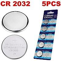 5 Pack CR2032/CR2025/CR2016/CR1632/CR1620/CR1616/CR1220 Batterie 3 Volt Lithium Batterie Münze Knopfzelle 2020 Verfalldatum (CR2032)