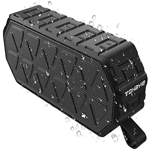 Portable-Bluetooth-Speaker-ToHayie-IPX6-Outdoor-Bluetooth-Speaker-with-1000mAh-Battery-66-Foot-Bluetooth-Range-Built-in-Mic-for-iPhone-Samsung-and-More-Black
