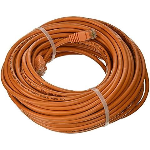 Arancione Ethernet cavo di rete, Patch, antigroviglio, 75piedi, per connettere COMPUTER a rete o Router attraverso la connessione Cat5e RJ45