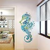 Rawpockets 'Sea Horse Decorative' Wall Sticker (PVC Vinyl, 0.99 cm x 55 cm x 110 cm)