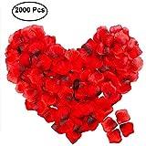 2000 Stück Rosenblätter,POAO Rosenblüten für Hochzeit Party Dekoration und Romantische Atmosphäre für Valentinstag