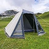 bonsport Familienzelt für 4 Personen - Zelt mit 180 cm Stehhöhe, 1000mm Wassersäule